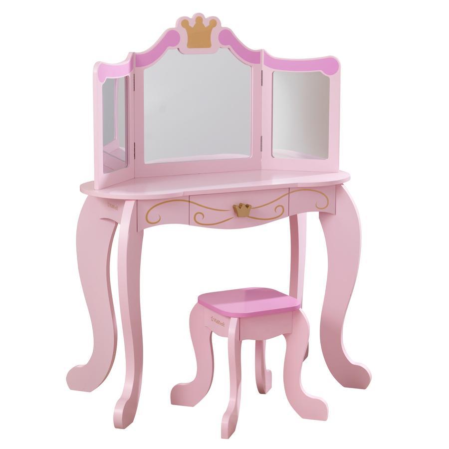 KidKraft® Coiffeuse enfant Princesse bois, chaise 76123