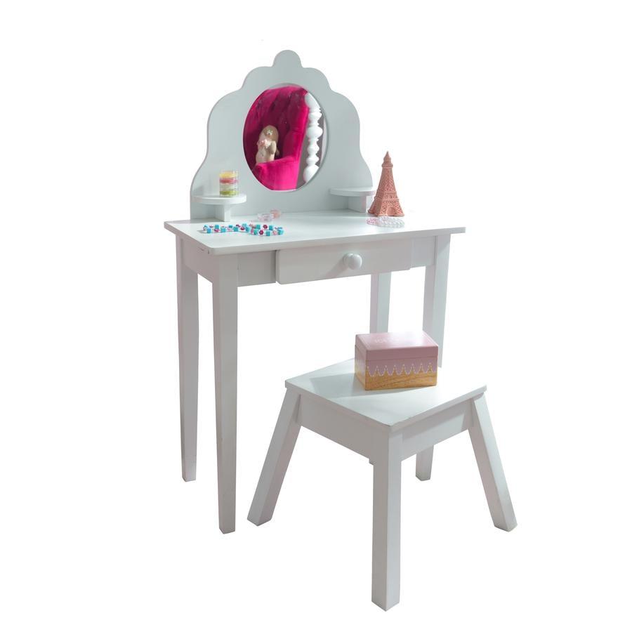 KidKraft® Kampauspöytä ja tuoli, valkoinen