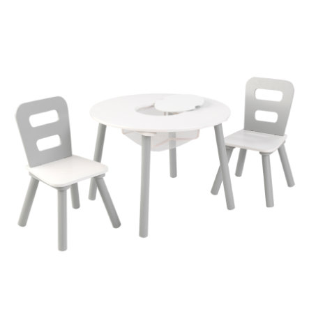 KidKraftR Ensemble Table 2 Chaises Enfant Blanc Gris