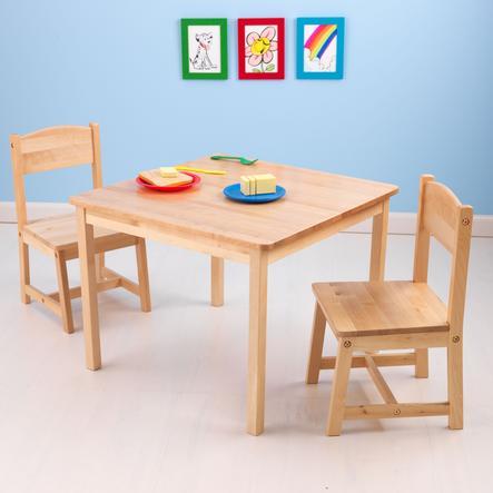 KidKraft® Aspen Tisch mit 2 Stühlen natur