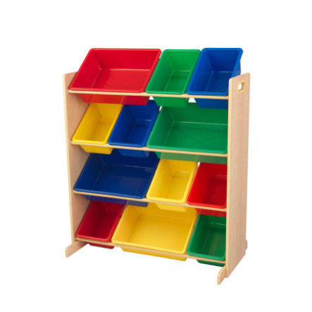 KidKraft® Opbevaringssystem, 12 kasser, Primærer farver