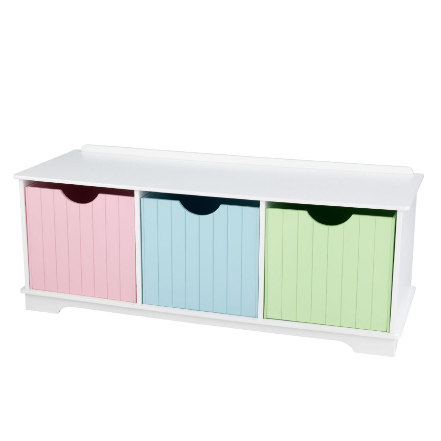 KidKraft® Nantucket opbergbank - pastel