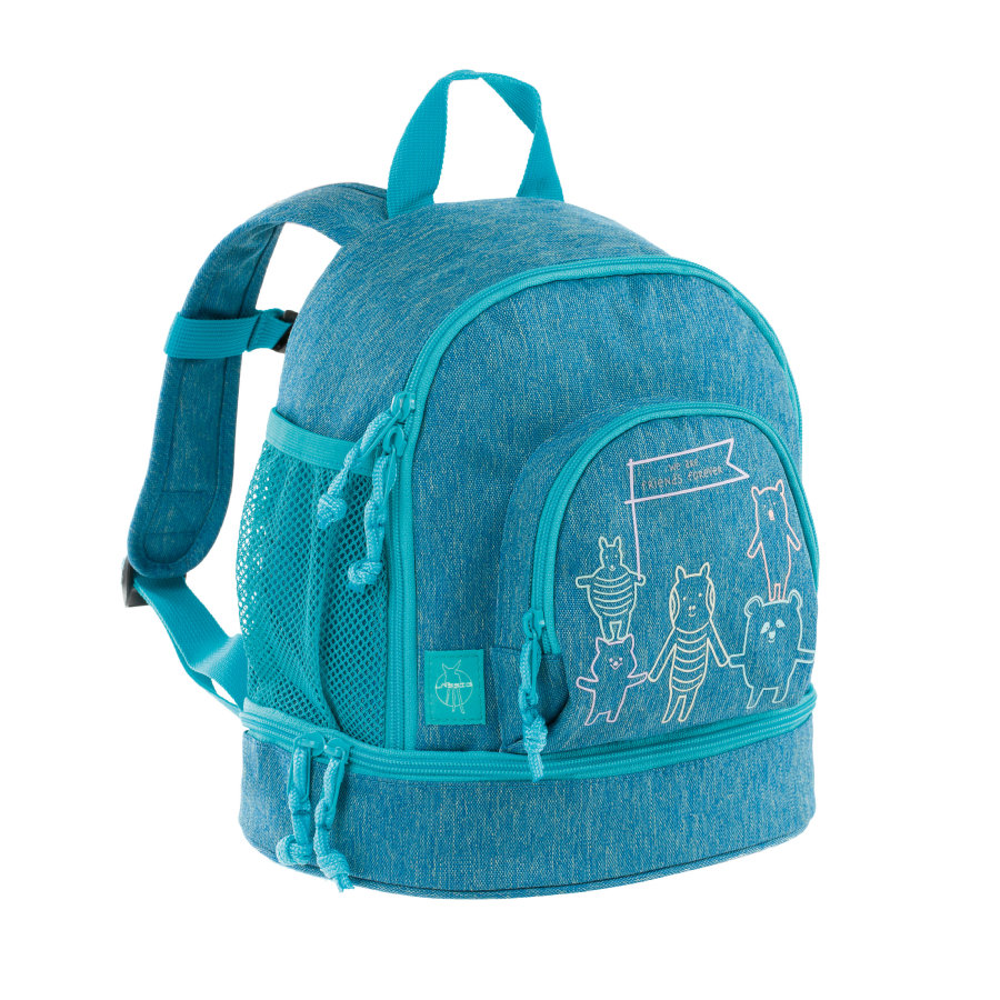 LÄSSIG 4Kids Mini Backpack About Friends - mélange blue