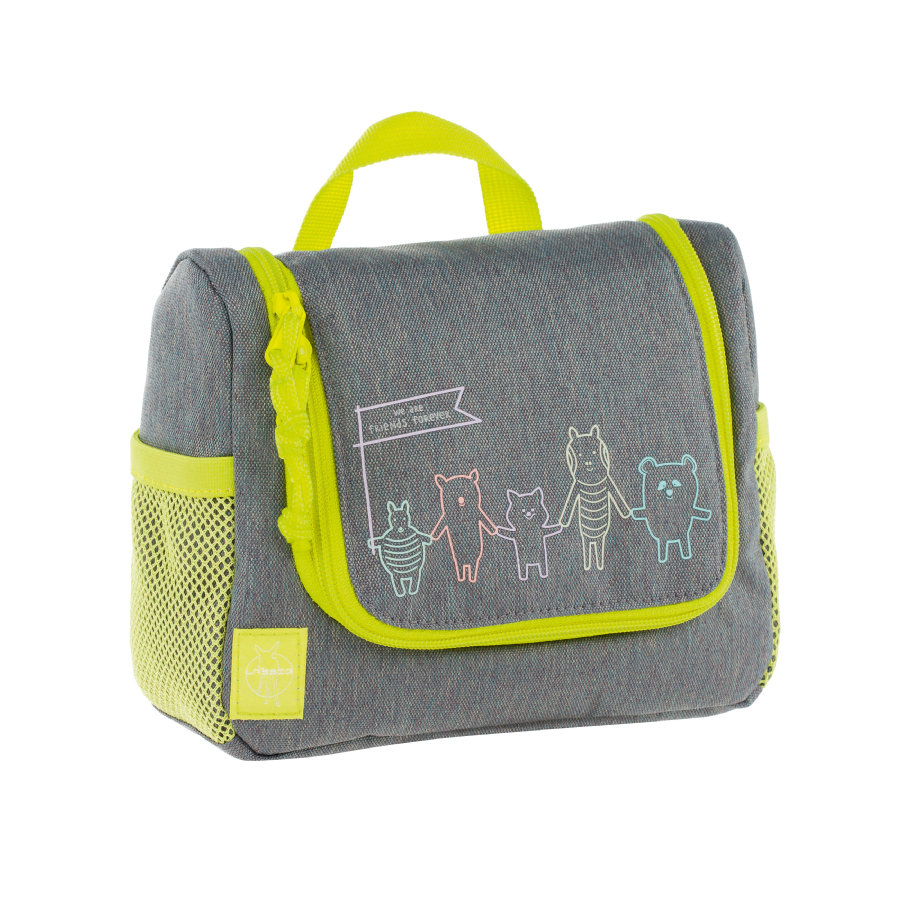 LÄSSIG 4Kids Mini Washbag About Friends - mélange grey