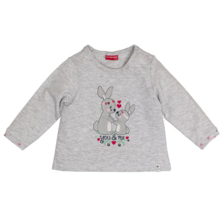 SALT AND PEPPER Girls Sweatshirt Lovely Hasen light grey
