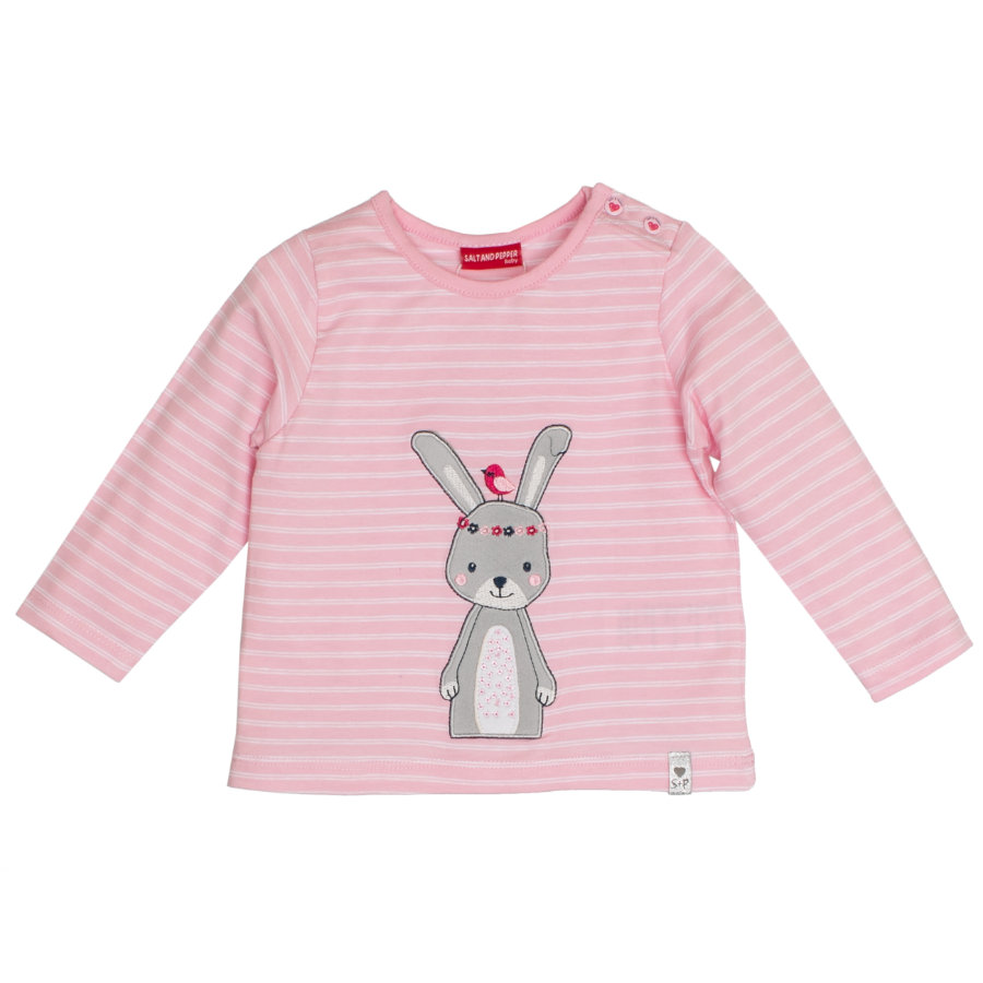 SALT AND PEPPER Girls Langarmshirt Lovely powder rose gestreift