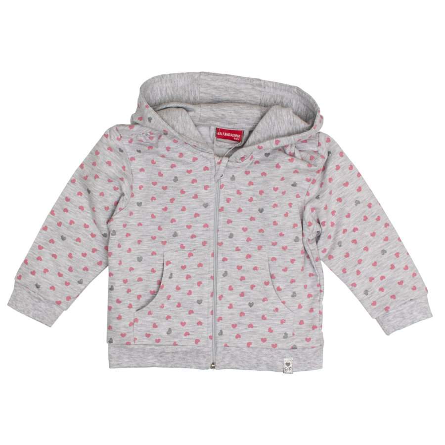 SALT AND PEPPER Girl s Sweat veste Lovely gris clair