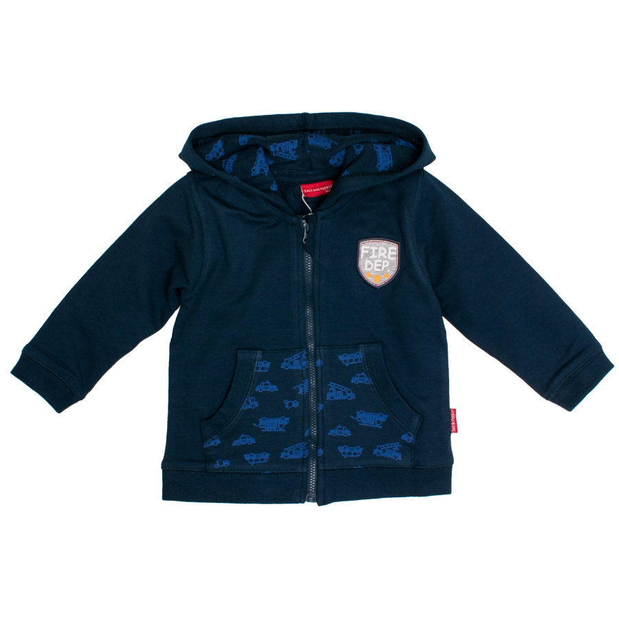 SALT AND PEPPER Boys Sweatjacke Fire Department crown blue