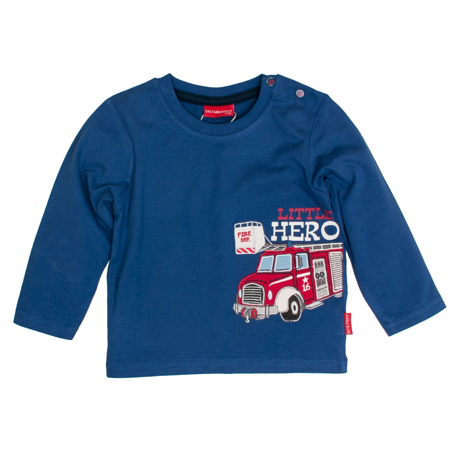 SALT AND PEPPER Boys Langarmshirt Little Hero strong blue
