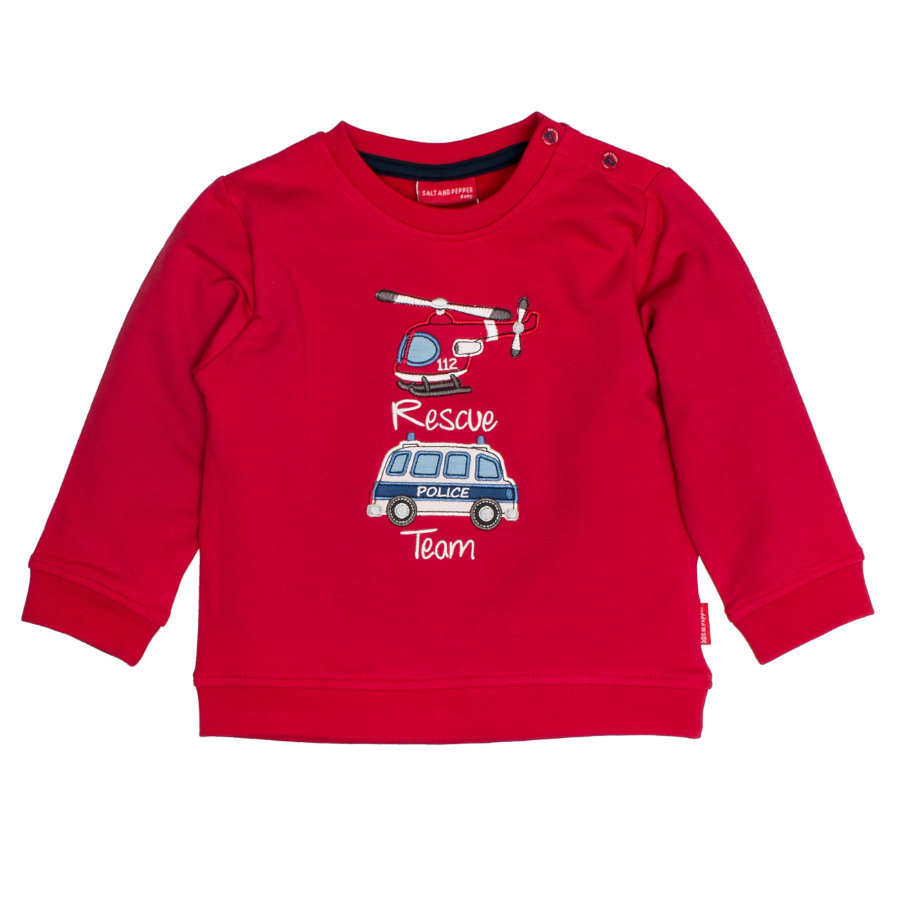 SALT AND PEPPER Sweatshirt Little Hero Rescue red