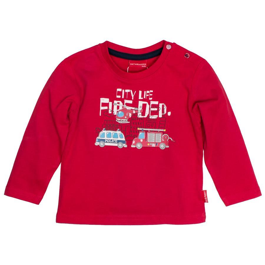 SALT AND PEPPER Boys Camisa manga larga Little Hero rojo