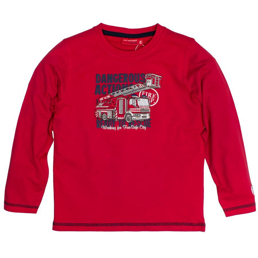 SALT AND PEPPER Boys Overhemd met lange mouwen Vuurgevaarlijk rood