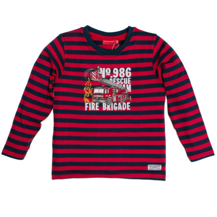 SALT AND PEPPER Boys Langarmshirt Fire gestreift red