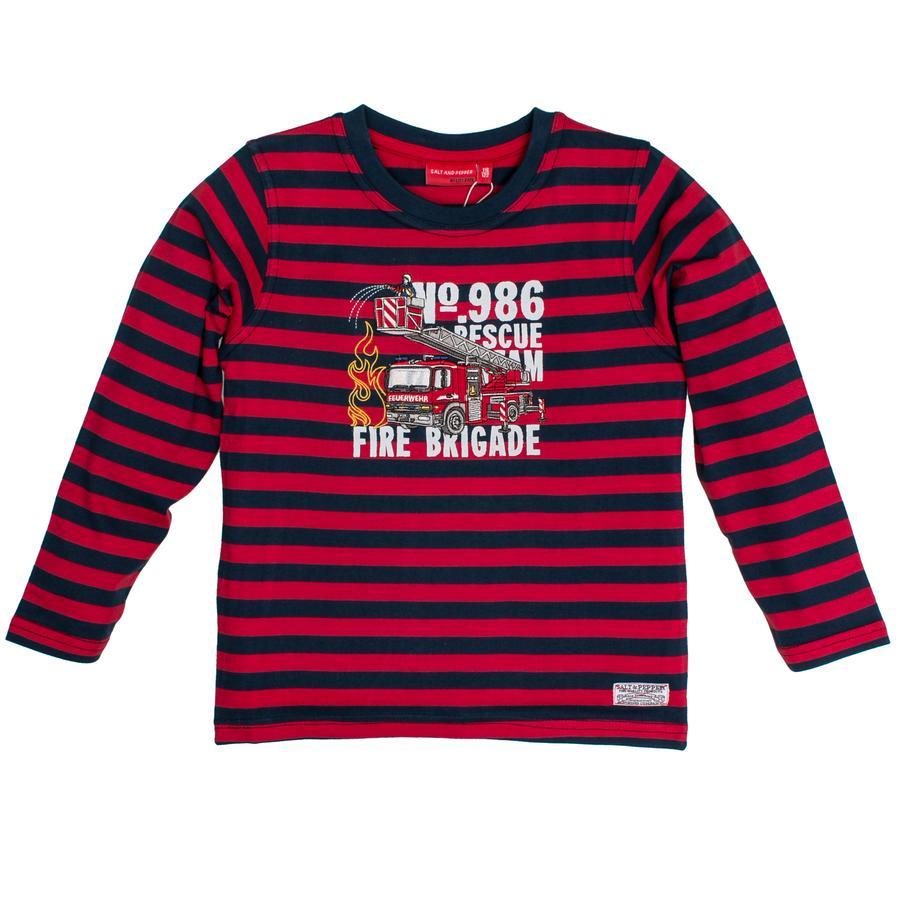 SALT AND PEPPER Boys Camisa de manga larga Rojo con rayas de fuego