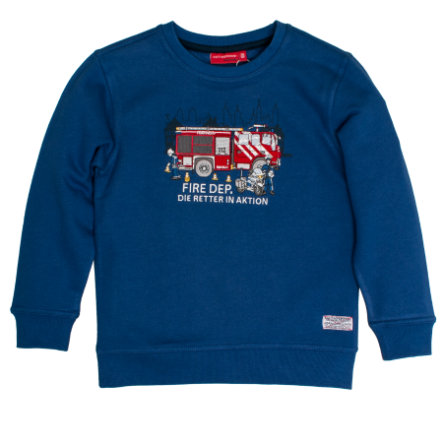 SALT AND PEPPER Boys Sweatshirt Fire Retter in Aktion strong blue