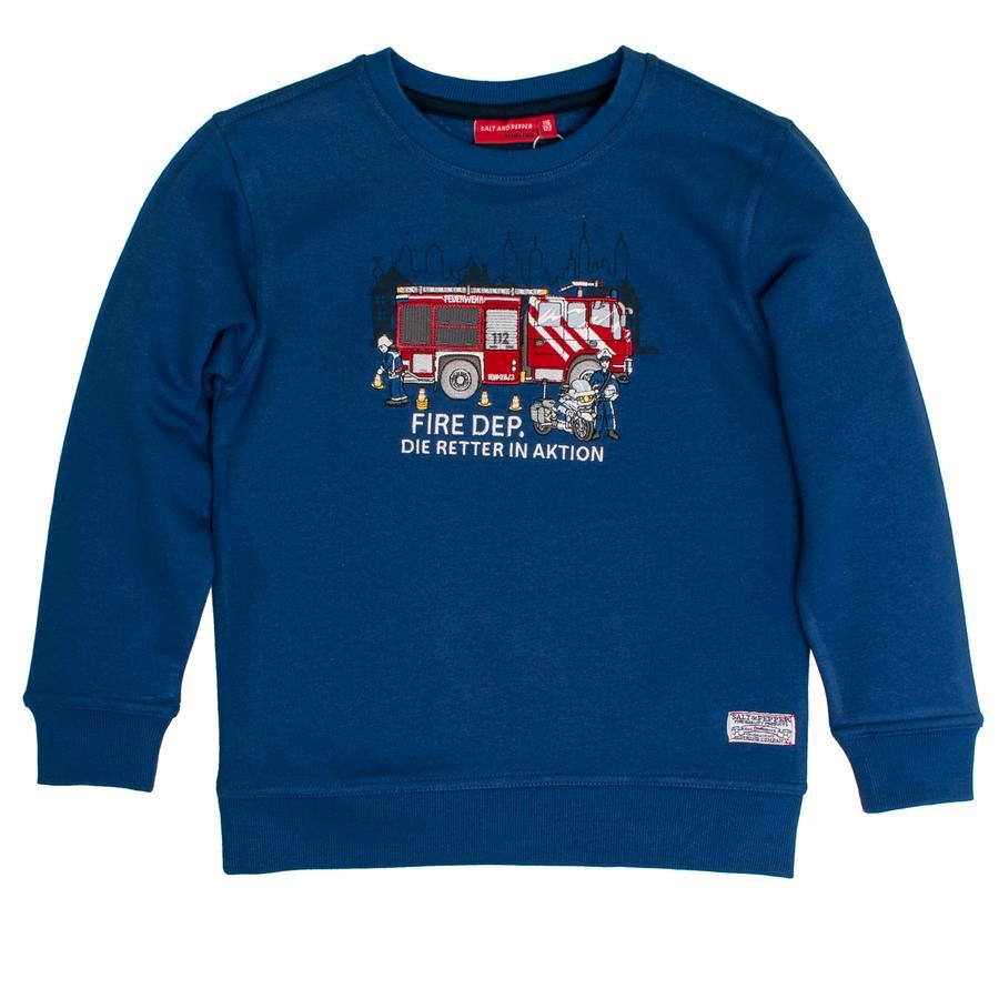 SALT AND PEPPER Boys Sweatshirt Fire Rescuer in actie sterk blauw