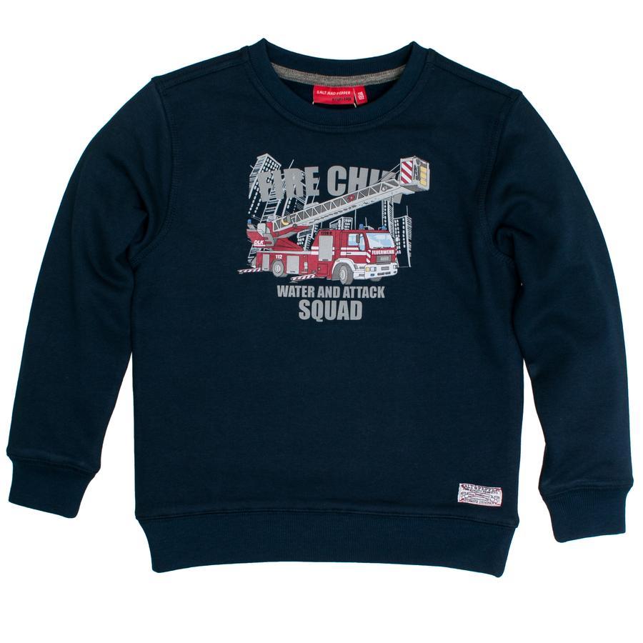SALT AND PEPPER Boys Sweatshirt Vuurkroon van het Vuurhoofd blauw