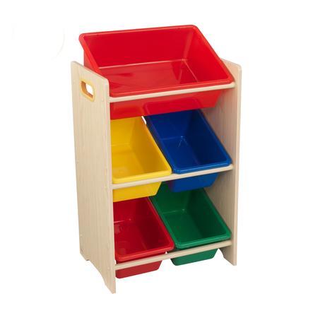 KidKraft 15472 polička s 5 úložnými boxy