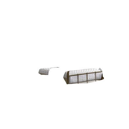 VIPACK Kovová postel Boston šedá 90 x 200