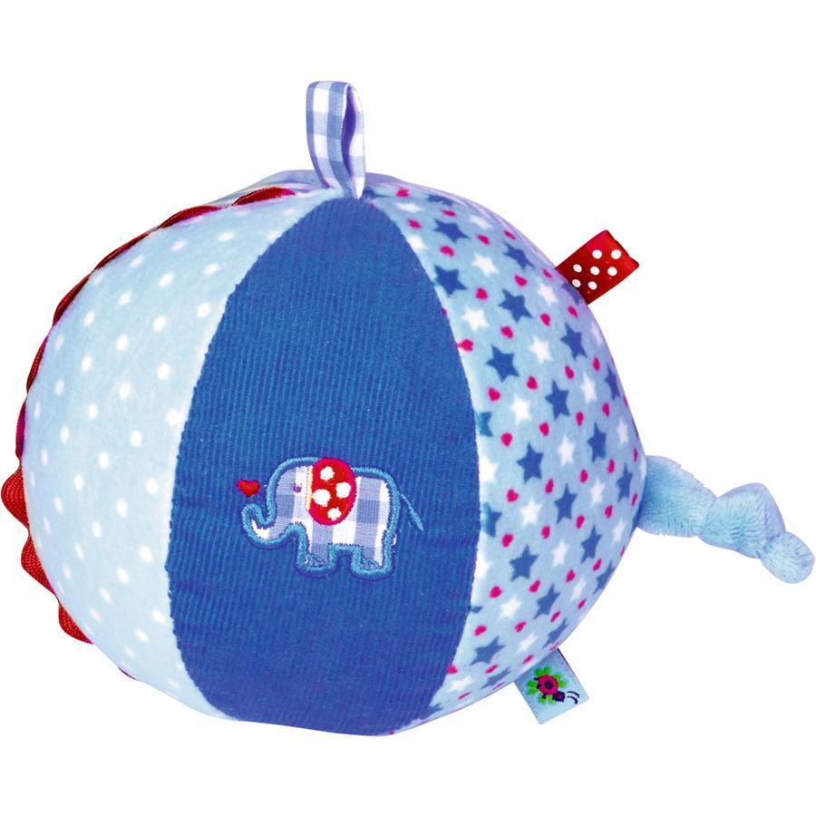 COPPENRATH - Stoffball mit Glockenspiel hellblau BabyGlück