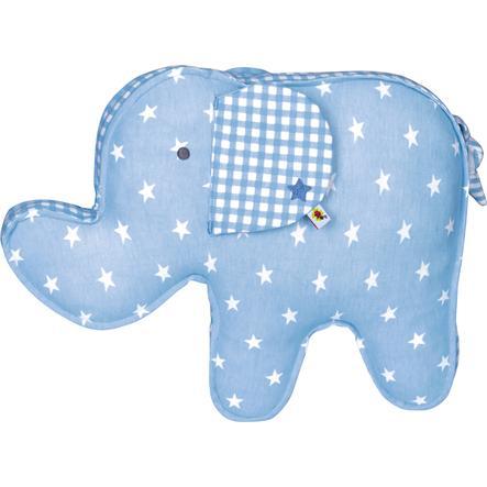 COPPENRATH Kissen Elefant hellblau BabyGlück
