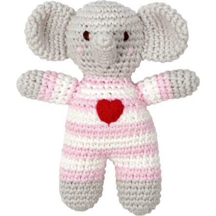 COPPENRATH Crochet-Rattle Elephant pink BabyLucky