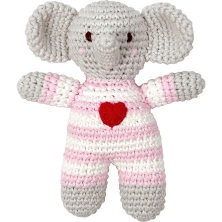SPIEGELBURG COPPENRATH Häkel-Rassel Elefant rosa BabyGlück