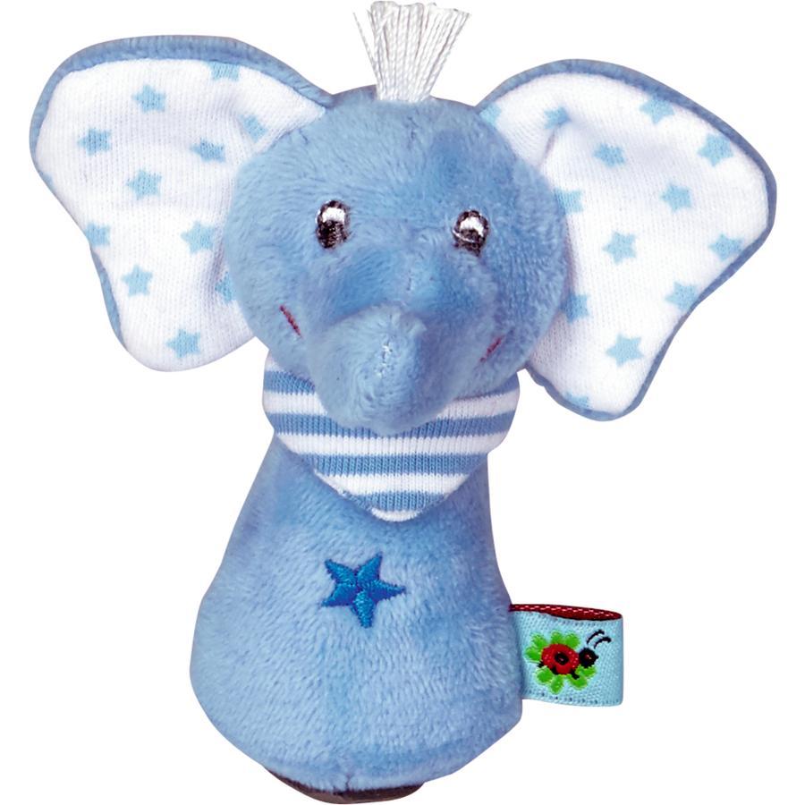 COPPENRATH Mini chrastítko slon světle modré dětské štěstí