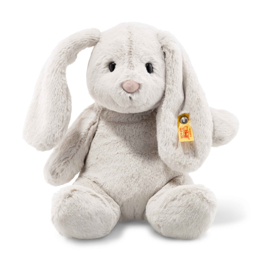 Steiff Soft Cuddly Friends Hoppies zajíček světle šedý 28 cm