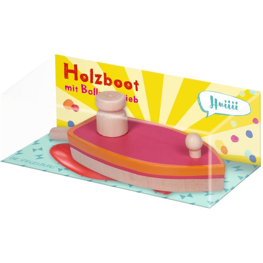 COPPENRATH Holzboot mit Ballonantrieb - Bunte Geschenke