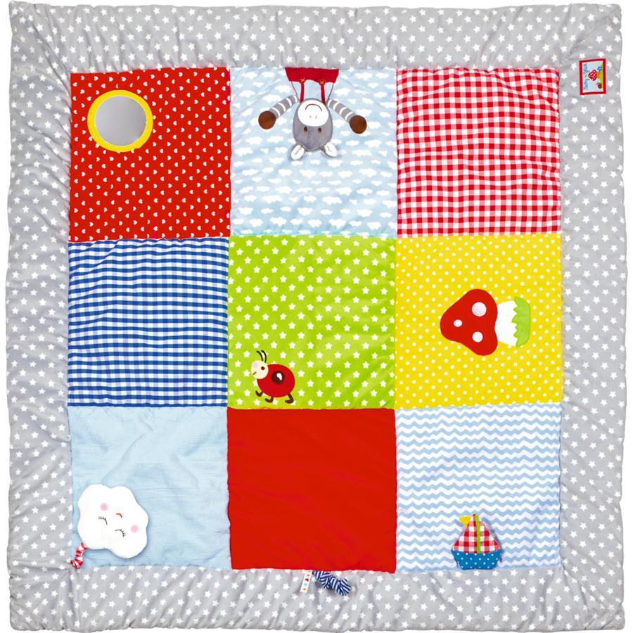 COPPENRATH Manta de gateo con elementos de juego 100 x 100cm