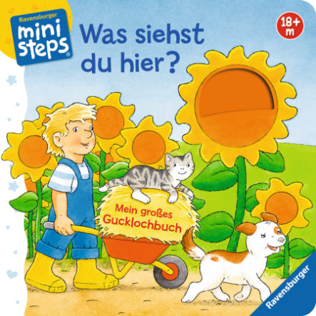 Ravensburger ministeps® - Was siehst du hier? Mein großes Gucklochbuch