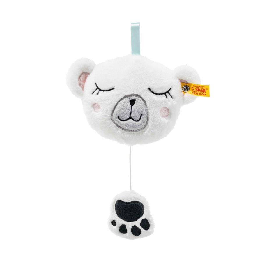 STEIFF Soft Cuddly Friends - Jääkarhu Iggy soittorasia, 13 cm