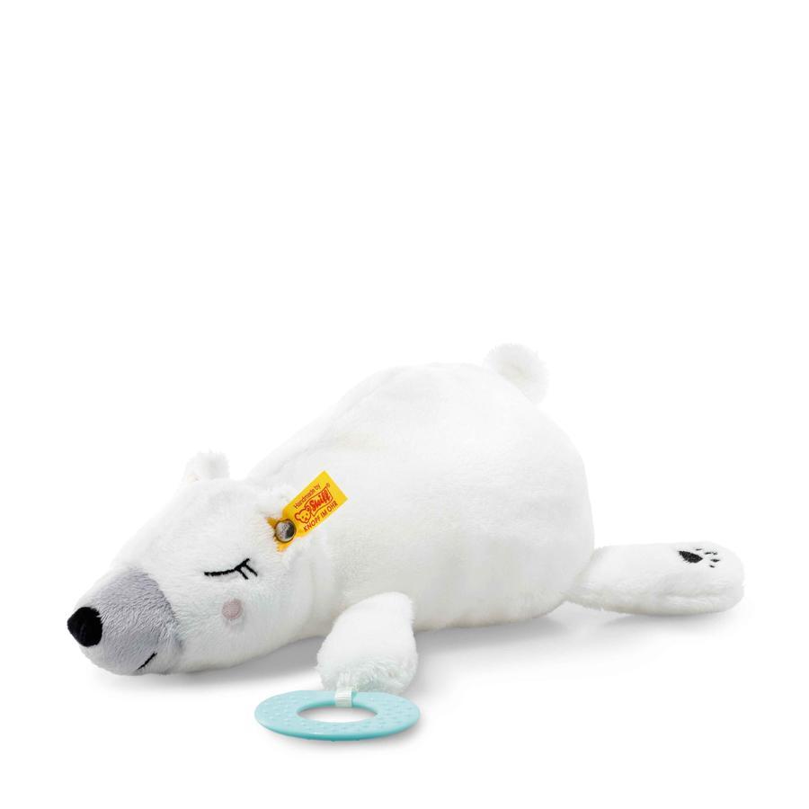 Steiff Soft Cuddly Friends Iggy Eisbär mit Greifring 30 cm