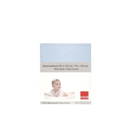 Schardt Drap-housse enfant Jersey bleu clair 70x140 cm pack unique