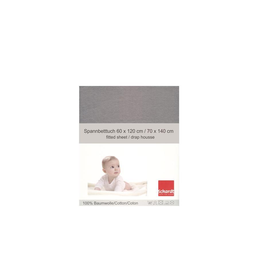 Schardt Jersey Stræklagen lysegrå 70 x 140 cm