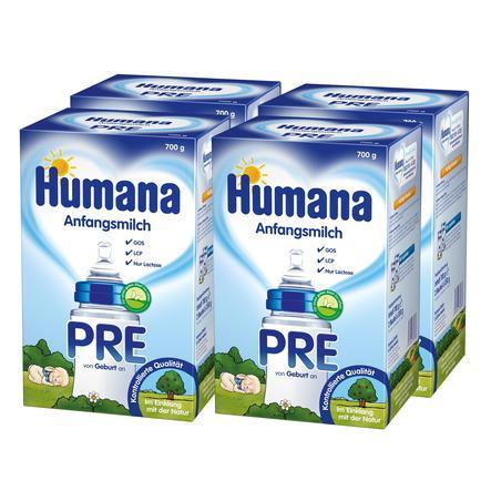 Humana Anfangsmilch PRE 4 x 700 g ab der Geburt