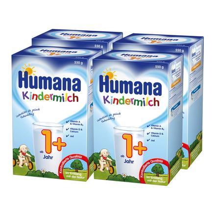 Humana Kindermilch 1+ 4 x 550 g ab dem 1. Jahr