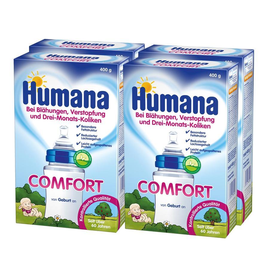 Humana Spezialnahrung Comfort 4 x 400 g bei Drei-Monats-Koliken ab der Geburt