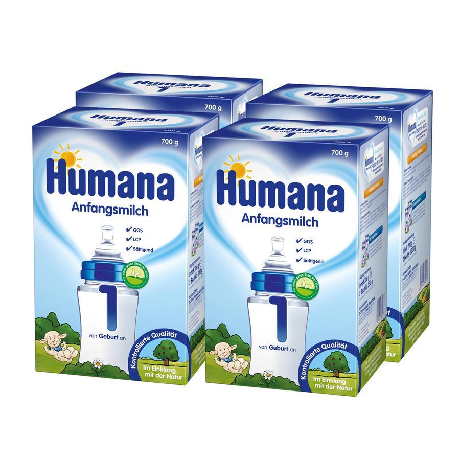 Humana Anfangsmilch 1 4 x 700 g ab der Geburt