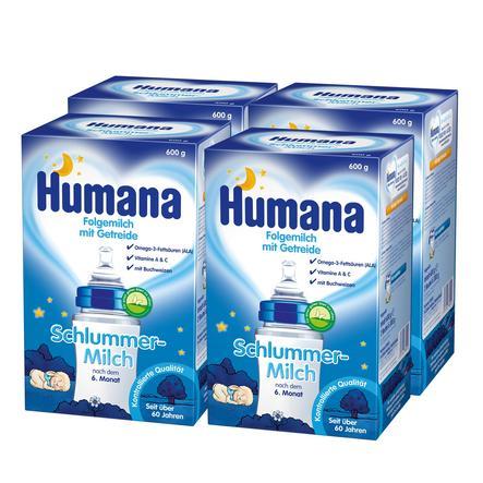 Humana Schlummermilch 4 x 600 g ab dem 6. Monat