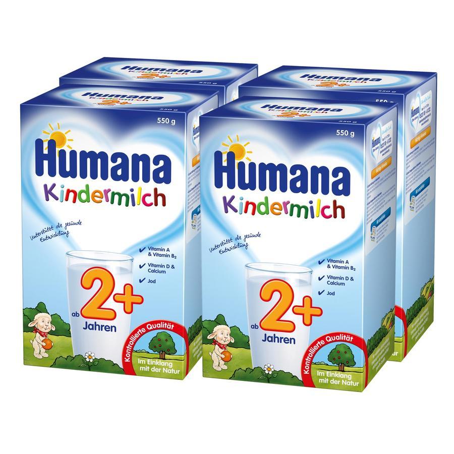 Humana Kindermilch 2+ 4 x 550 g ab dem 2. Jahr