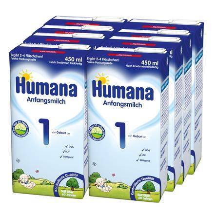 Humana Anfangsmilch 1 trinkfertig 8 x 450 ml ab der Geburt