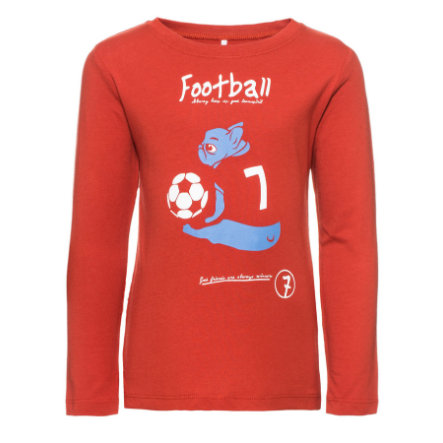 name it Boys Chemise manches longues Football ketchup