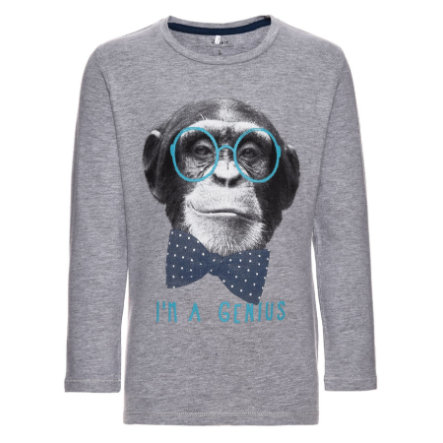 name it Boys Langarmshirt Feben grey melange