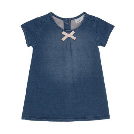 NAME IT tyttöjen Dress Barbel medium blue denim