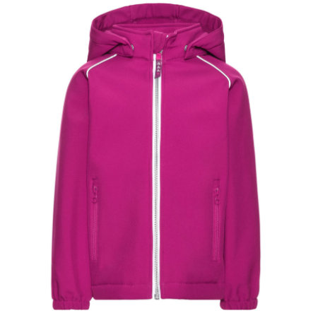 name it Veste enfant fille softshell Alfa festival fuchsia