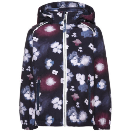 name it Girls Softshell Jas Alfa Blumen sky captain
