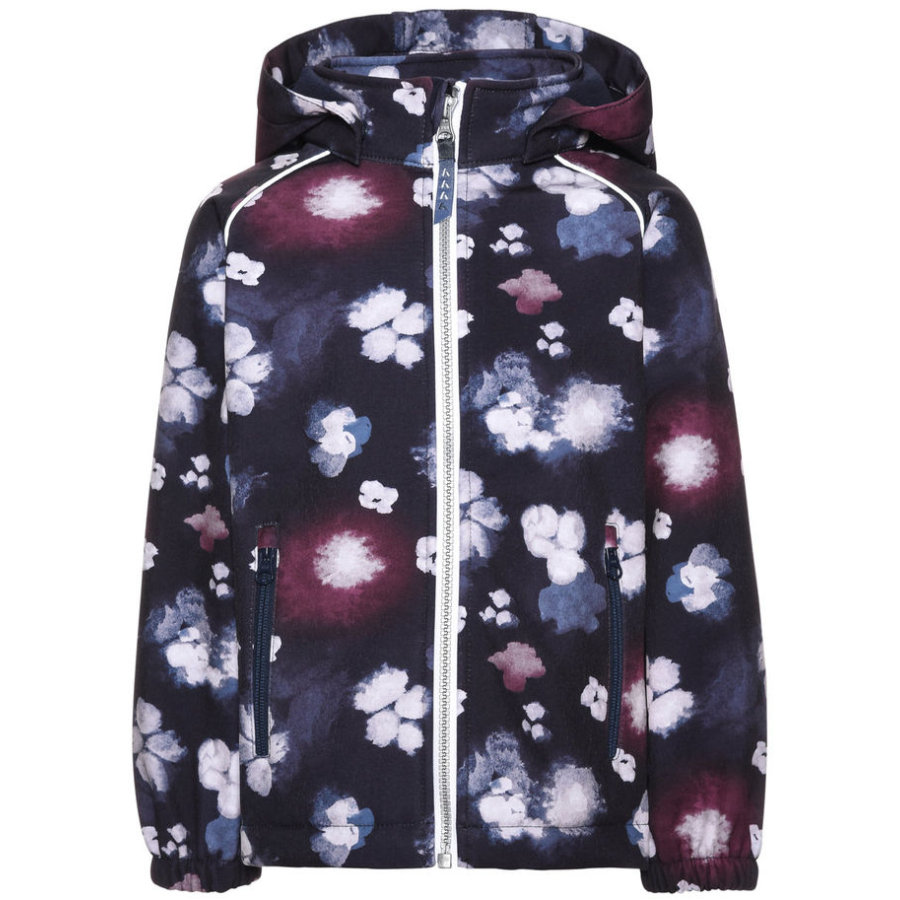name it Girls Softshelljacke Alfa Blumen sky captain