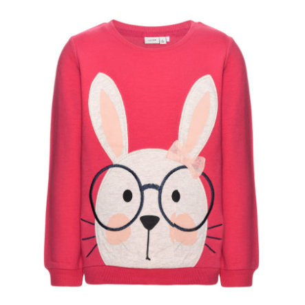 name it Girls Sweatshirt Feffe Hase raspberry wine